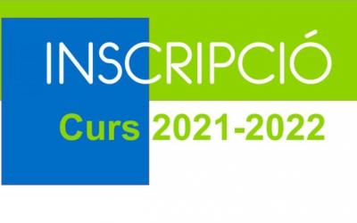 INSCRIPCIÓ CURS 21-22