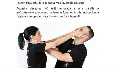 TALLER DE DEFENSA PERSONAL * DISSABTE 05/06 12-13 H. *